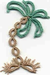 palm tree would be cute on a beach themed card #tat #tatting #tatted