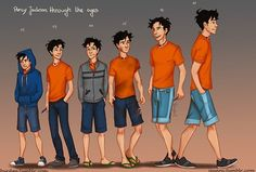 Percy Jackson through the ages