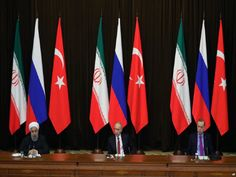 Leaders of Turkey, Russia, Iran Gather in Ankara to Discuss Syria End Game