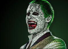 Joker Typography by on DeviantArt Jared Leto Joker, Joker And Harley, Gotham, Typography, Jokers, Fictional Characters, Crime, Nerd, Marvel