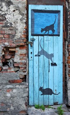 Door, Warsaw, Poland