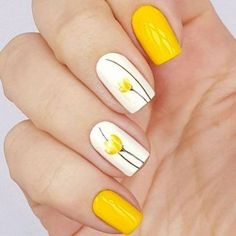 There are three kinds of fake nails which all come from the family of plastics. Acrylic nails are a liquid and powder mix. They are mixed in front of you and then they are brushed onto your nails and shaped. These nails are air dried. Flower Nail Designs, Nail Designs Spring, Nail Art Designs, Spring Design, Easter Nail Designs, Cute Simple Nail Designs, Bright Nail Designs, Classy Nail Designs, Tulip Nails
