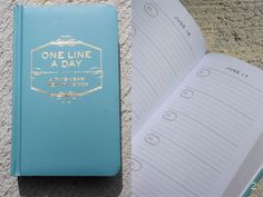 """One Line a Day: A Five Year Memory Book"" This book is beautifully simple, it has 5 lines for each day for 5 years on the same page. (Definitely makes journal-ling fun and easy!)"