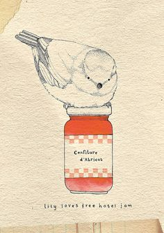 Ooh...what a jammy bird by Kate of Little Doodles