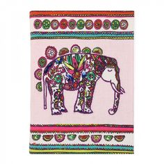 Floral elephant hand-stitched notebook - Notebooks - Stationery