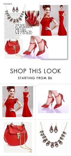 """& Red style&"" by bahiraf ❤ liked on Polyvore"