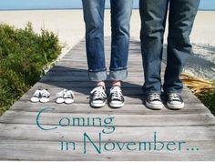 cutest announcement, coming in november, pregnant future