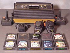 My first video game system as a child. The Atari I remember when I was a little boy playing this for hours sitting on my living room floor in my PJ's. My Childhood Memories, Childhood Toys, Sweet Memories, Childhood Images, Cow Boys, Cow Girl, Retro Toys, Vintage Toys, Vintage Games