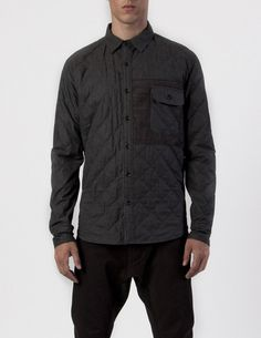 ISAORA | Quilted Combo Button Up