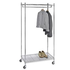 Portable And Expandable Garment Rack In Black Chrome 18 Months Captivating Diy Garment Rack Cover  Google Search  Aha Storage Solutions For
