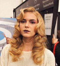 Pin curls from fashion week