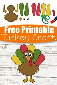 Cut and Paste crafts are awesome fun for kids to enjoy! And here's our newest cut and paste Turkey craft which is ideal for toddlers, preschoolers & kindergartners! With a free printable turkey craft template, this cut and paste craft makes a cute art project for preschool or even a craft activity for homeschoolers. So if you have big kids or little kids that love their crafts, grab this free printable cut and paste Turkey craft today! #cutandpastecrafts #turkeycrafts Cute Art Projects, Toddler Art Projects, Toddler Crafts, Printable Crafts, Printable Turkey, Turkey Template, Free Printable, Printables, Paper Bag Crafts