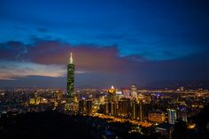 Photo of the Day: A Twinkling Skyline in Taiwan |A city comes to life as buildings light up during nightfall in Taipei, #Taiwan on June 12, 2015. (Brian Sheng/Flickr)