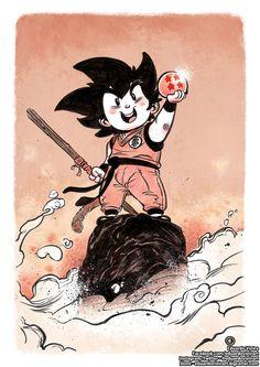 goku dragon ball melhores lutas fan art