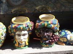 """Sicilian Ceramic Heads """"Teste di Moro"""" #lcaltagirone #sicilia #sicily"""