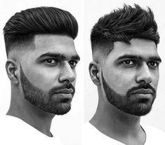 coupe de cheveux homme tendance idée crêpage cheveux fade moderne barbe entretenue courte