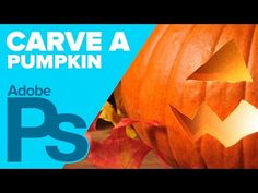 How to Carve a PUMPKIN in Photoshop for Halloween! - YouTube