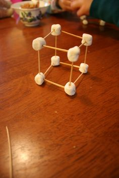 3-d geometry.  Vertices = marshmallows.  Edges = toothpicks. I've tried this before..kids love it but I put all materials into individual baggies before hand to avoid any problems which took a lot of time but made the activity go smoother