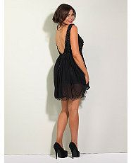 Black (Black) Lipstick Boutique with Jessica Wright Lace Backless Dress | 266725501 | New Look
