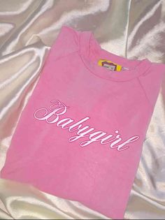 THIS V PRECIOUS BABYGIRL CROP TEE IS 100% NECESSITY  Cotton spandex blendRound neck Cropped teeAll over stretchLightweight