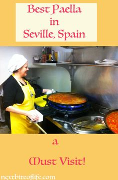 The absolute best paella in Seville, Spain. Worth the wait for authentic, home made paella in Andalusia. Traditional, black, and seafood paella.