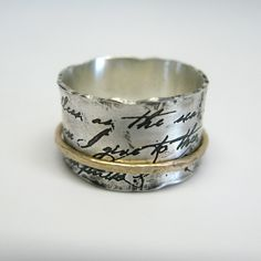 Juliet Spinner Ring in Sterling Silver and 10k Gold. $235.00, via Etsy.