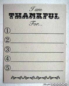 Thankful Game & Printable ~ so fun for Thanksgiving dinner!