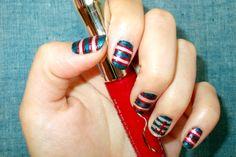 Polish Up – Nail Art Challenge – Theme #6 Nautical Stripes