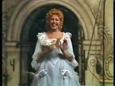 """Beverly Sills is Rosina, singing """"Una Voce Poco Fa"""" Even if this is supposed to be a mezzo role, this is truly awesome. Coloratura Soprano, The Barber Of Seville, Beverly Sills, Renee Fleming, Music Den, Romantic Music, Christmas Albums, Opera Singers, Music Stuff"""