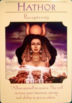 Hathor; Goddess Guidance Oracle Cards; Doreen Virtue