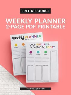 Productivity is important for any entrepreneur. We all go through phases of productivity. Get the free 2-page weekly planner to help with yours... productivity planner | free planner | free printable | entrepreneurship
