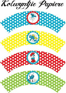 lots of free party printables Party Printables, Free Printables, Cupcake Toppers Free, Cupcake Wrappers, Paper Box Template, Oh My Fiesta, Troll Party, Smurfette, 4th Birthday Parties