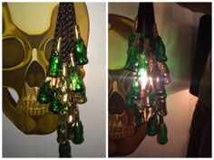 I created a @Lucky Buddha Beer chandelier for their #BeerCrafts contest! Find out more info visit: Facebook.com/LuckyBuddhaBeer!