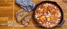 Αυγά σε σάλτσα ντομάτας με φέτα Greek Recipes, Feta, Nom Nom, Yummy Food, Cooking, Ethnic Recipes, Drinks, Simple, Drinking