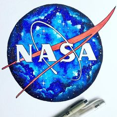 """5,477 Likes, 76 Comments - Humby Art (@humbyart) on Instagram: """"Just realized I never posted a photo of this NASA logo I painted a while back! I redid the logo…"""""""