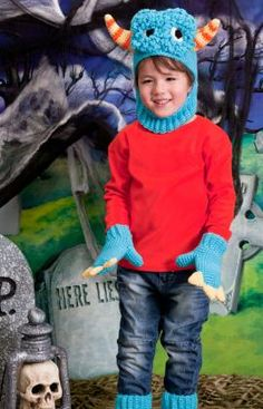 Blue Monster Costume - Free Pattern by Redheart