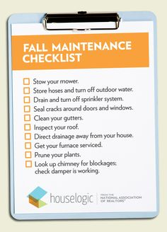Is your #home ready for fall? This fall #maintenance checklist will help you keep track of steps to take as the season changes.