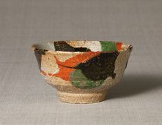 Kanjiro Kawai 1890-1966, three colored tea bowl