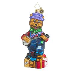 "Christopher Radko Ornament - ""Bearly Pickin' & Grinnin'"""