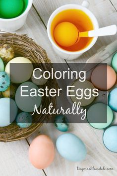 Avoid unhealthy food dyes and do this: coloring eggs naturally! Includes a tutorial of how to make cool alien eggs that are edible. Dagmar's Home, DagmarBleasdale.com