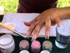 This seems like a way easier way to apply acrylic at home i will gold n pink acrylic nail tutorial by cy26changis awesome glitter mediums solutioingenieria Choice Image