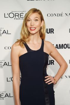 Model Karlie Kloss attends the 2015 Glamour Women of the Year Awards.