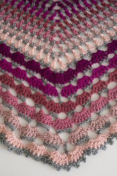 Berry Sherbet Shawl - I Like Crochet must subscribe to get pattern.