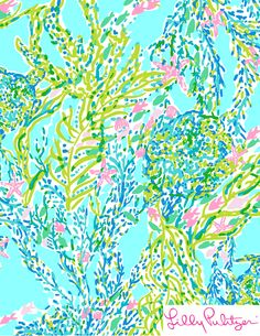 Lilly Pulitzer Skye Blue Heaven. illustration. art. print