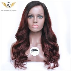 Find More Human Wigs Information about 5A 150 Density  Full Lace Curly Human Hair Wigs For Black Women Ombre…