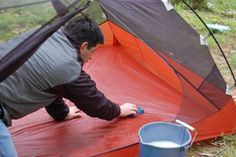TREAT MILDEW ON YOUR TENT - If you do get mildew, it's very difficult to remove it completely, but you can treat it. Mix non-detergent soap, 1 cup of salt, 1 cup of lemon juice, and 1 gallon of hot water. Then, use this mix and a soft nylon brush to scrub the interior and exterior of the tent as well as the fly. Next, dry the tent in the sun.
