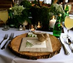 Woodsy Prom Dinner Table Setting