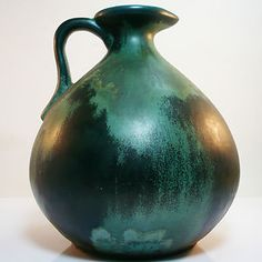 West German Pottery vase made by Otto Keramik with original paper label