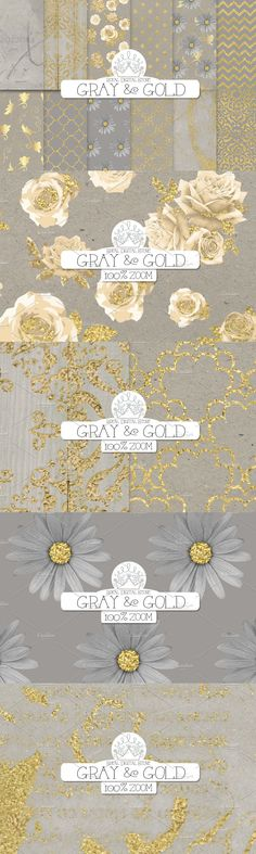Grey And Gold, Gray, Scrapbook Paper, Scrapbooking, Damask Patterns, Gold Background, Gold Wood, Kraft Paper, Planners