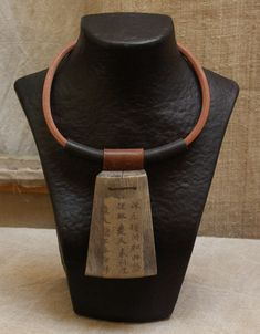 recycled wooden necklace
